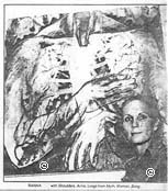 COPYRIGHT PROTECTED Image - review photo, artist with large drawing (copyright)1986